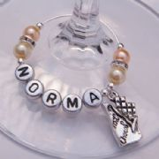 Chocolate Bar Personalised Wine Glass Charm - Elegance Style